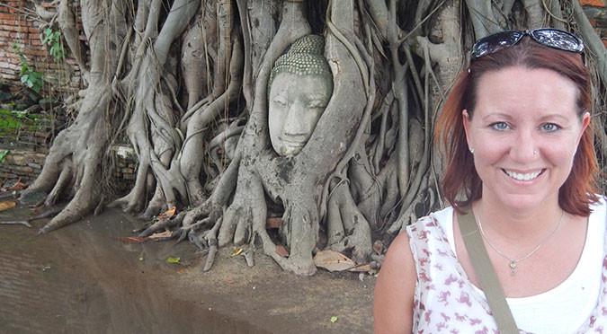 Me at Wat Mahathat, Thailand